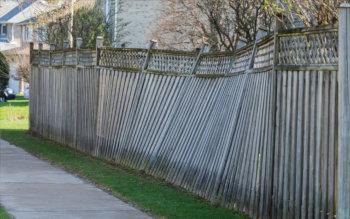 old fence demolition