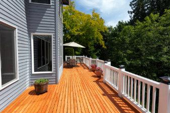 Remodeled Deck Joists backyard